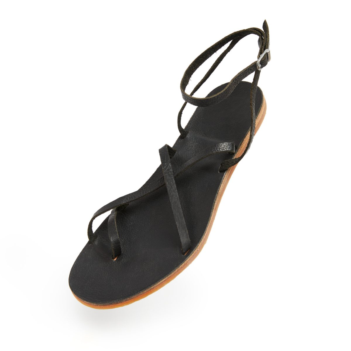 Sandals with hevea sole